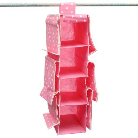 10 pockets wardrobe hanging handbags clothes holder rack