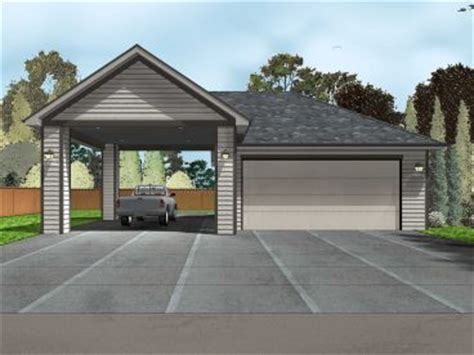 House Plans With Attached Apartment Garage Plans With Carports The Garage Plan Shop