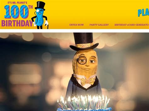 Mr Sweepy Sweepstakes - mr peanut s 100th birthday sweepstakes sweepstakes fanatics