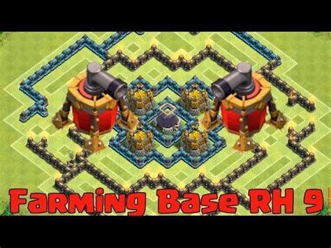 coc nazi layout rathaus 9 farm base layout mit 2 luftfeger clash of