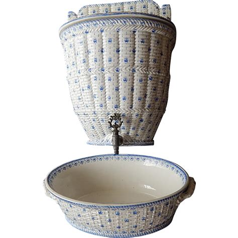 lavabo french french antique porcelain lavabo by creil et montereau rare
