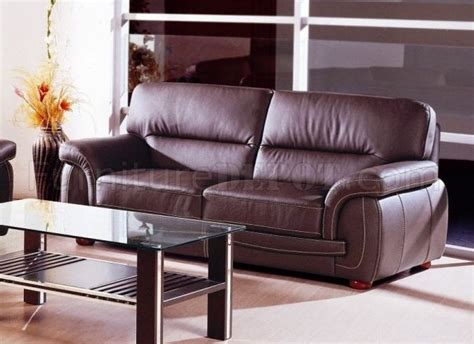 Choice Leather Furniture by Choice Of Brown Or Black Top Grain Leather Sofa W Options
