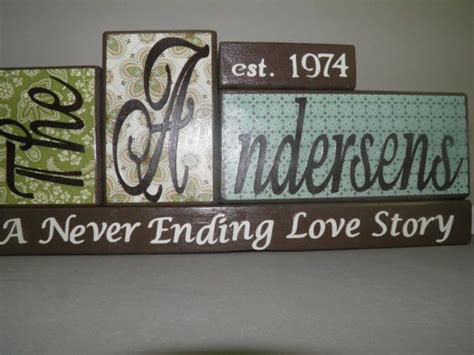 family is forever block letters sign wood block letters family name wooden block with year established last name