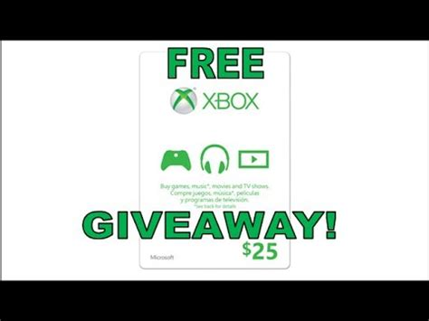 Xbox Live Sweepstakes - free 25 xbox live gift card giveaway closed youtube