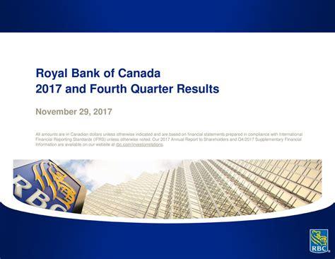royal bank financial royal bank of canada 2017 q4 results earnings call