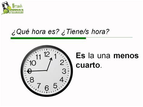 q es pattern en español 191 qu 233 hora es learn spanish with fresh spanish youtube