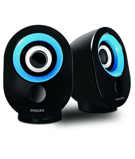 Speaker System Usb 20 2 Speaker buy philips spa 50 usb 2 0 computer speakers blue at best price in india snapdeal