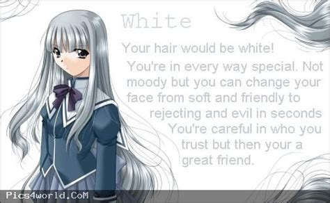 anime hair color quiz white anime hair color meaning anime
