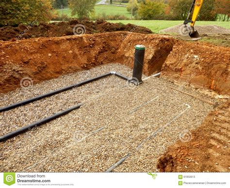 Drainage Gravel Cost Sand And Gravel Filter Bed Stock Photo Image 61850613