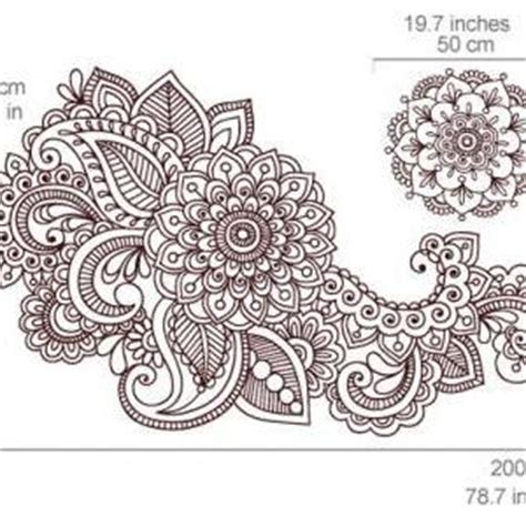 henna design wall stencils henna wall stencil decal floral indian sticker for asian