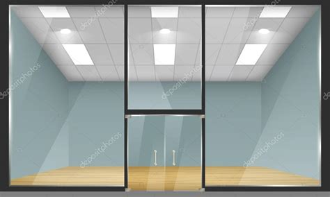 Window And Door Store by Shop With Glass Windows And Doors Front View Stock