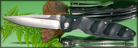 mcusta mc 2 series basic folder black micarta handle