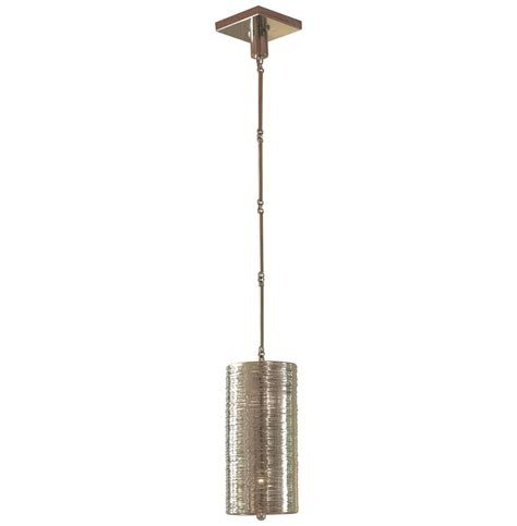 Polished Nickel Pendant Light Fixture Farley Regency Polished Nickel Coiled 1 Light Pendant Fixture Kathy Kuo Home
