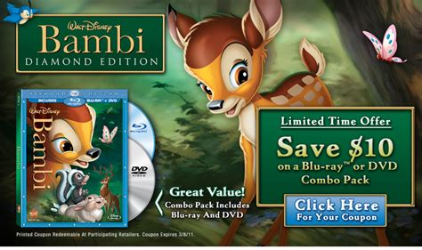 Home Decorating Sweepstakes by 10 Off Disney Bambi Blu Ray Dvd Combo Promo Nyc Single Mom