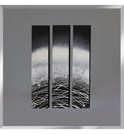 mirrored wall decor abstract triptych smoked grey mirrored wall 75cm x 75cm
