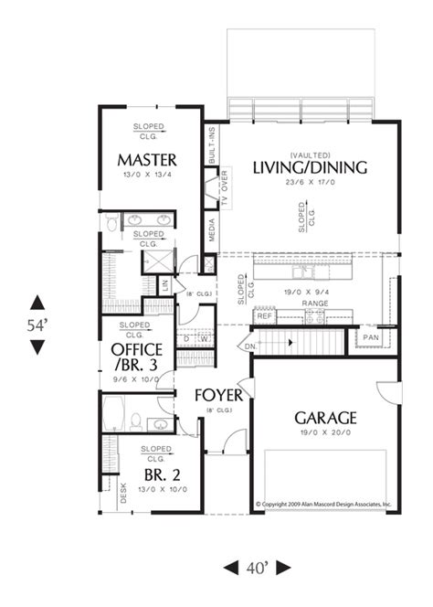 mascord floor plans main floor plan of mascord plan 1164 the brooklyn