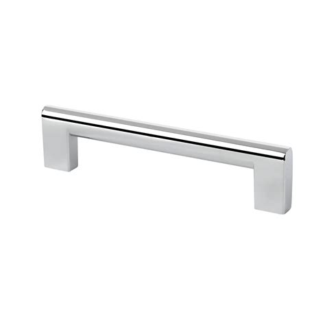transitional flat edge chrome cabinet drawer pull