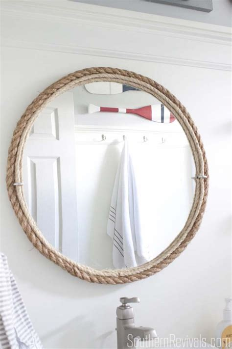 Nautical Mirrors Bathroom Diy Rope Mirror Tutorial Nautical Style Bathroom Mirror Southern Revivals
