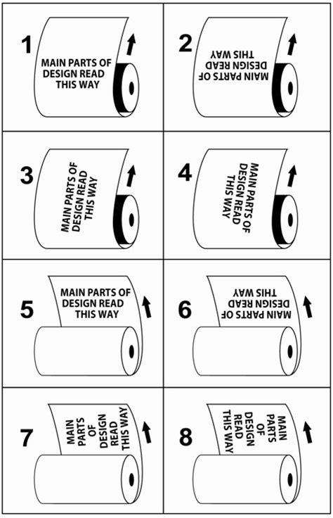 Standard Unwinding Direction Roll Chart Flair Flexible