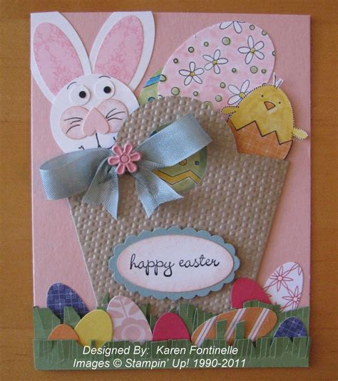 Handmade Easter Cards - easter handmade card sting with