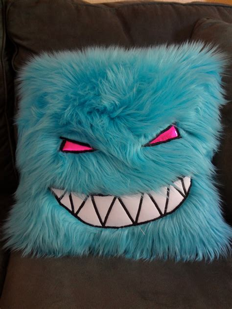 Fuzzy Pillow by Custom Color Feed Me Fuzzy Pillow By Pillowfightz