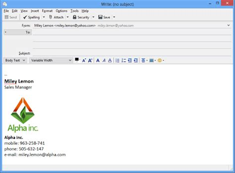 html format email signature how to set up email signature in thunderbird