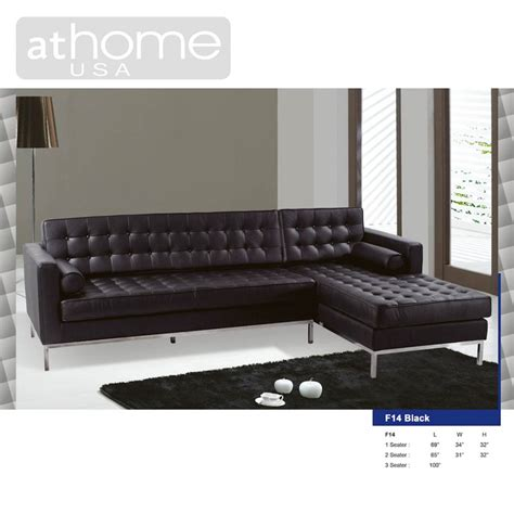 f14 leather sectional sofa by at home usa in living room