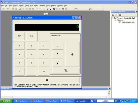 calculator visual basic simple calculator project in vb6 free source code