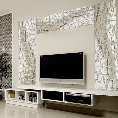 Wall Stiker Uk 50x70 Wall Sticker Dinding Keranjang Bunga modern geometric plastic mirror wall home decal decor vinyl sticker diy mr