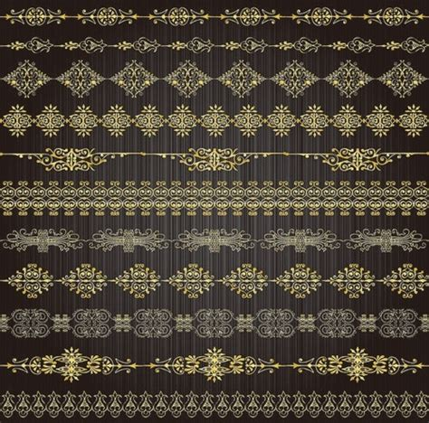 gold lace pattern gold lace pattern 02 vector free vector in encapsulated