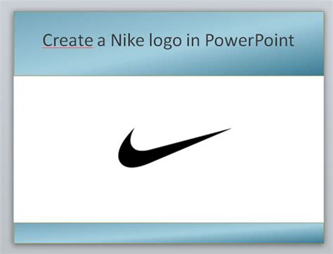 Create A Nike Powerpoint Template Using Shapes Powerpoint Presentation Nike Powerpoint Template