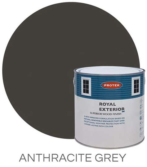 protek royal paint natural stains  litres anthracite