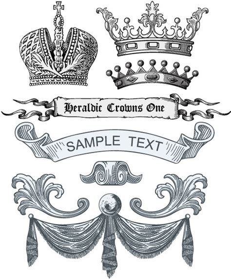 royal design elements vector free vector royal banner ribbon images free vector