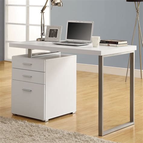 Shop Monarch Specialties White Computer Desk At Lowes Com Computer Desk In White