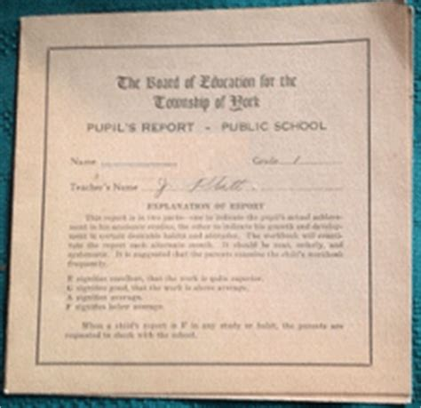 Ontario Report Card Letter Grades Elementary Schools G To J 171 For King And Country