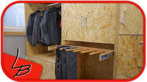 werkstatt mit osb platten verkleiden 3 5 schrank garderobe selber bauen aus osb