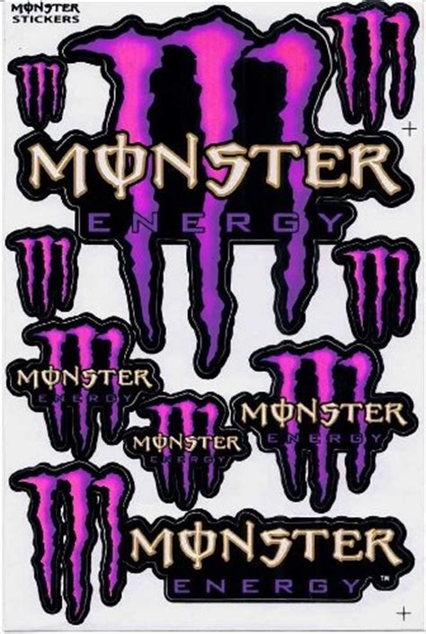 Monster Energy Aufkleber Pink by Monster Energy Graphic Racing Sticker Decal Motorcycle Atv