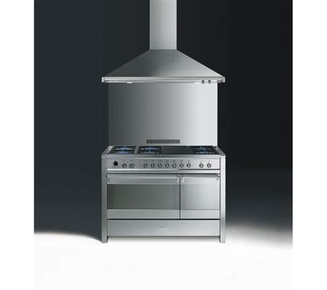 Oven Gas Stainless Uk 120 buy smeg opera 120 dual fuel range cooker stainless steel free delivery currys