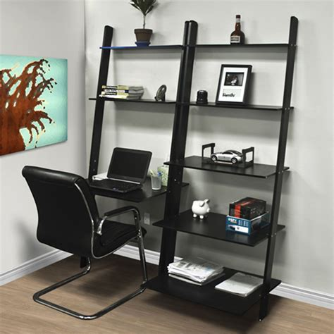 vhz office computer desk leaning shelf bookcase with computer desk office furniture