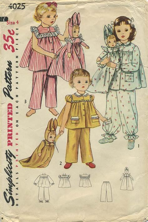 pattern matching sewing vintage sewing pattern for laundry bag doll simplicity