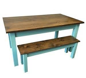 Blue Shabby Chic Furniture by Vintage Blue Farmhouse Table Rustic Harvest Farmhouse