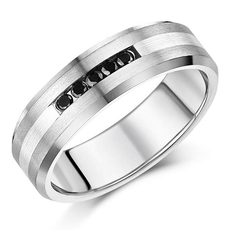 5mm Wedding Ring by 5mm Titanium Sterling Silver Black Wedding Ring