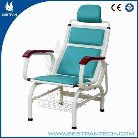 hospital recliner chair bed bt tn005 with folding dinning board iv pole steel cost
