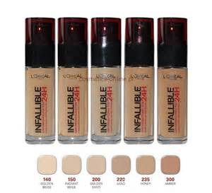 l shades l oreal infallible stay fresh 24h foundation brand new