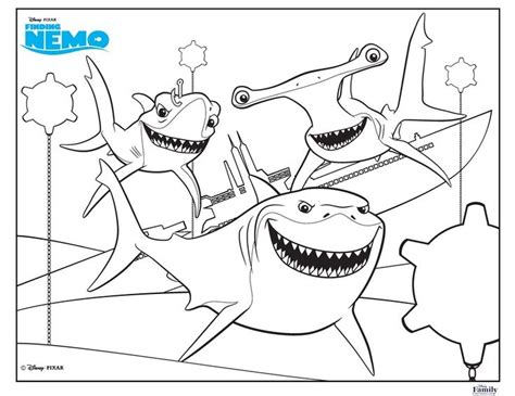 nemo shark coloring pages 100 best disney finding nemo coloring pages disney images