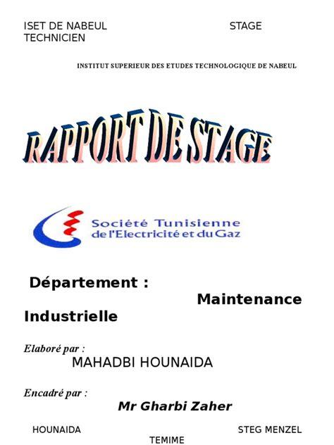 exemple rapport de stage maintenance document