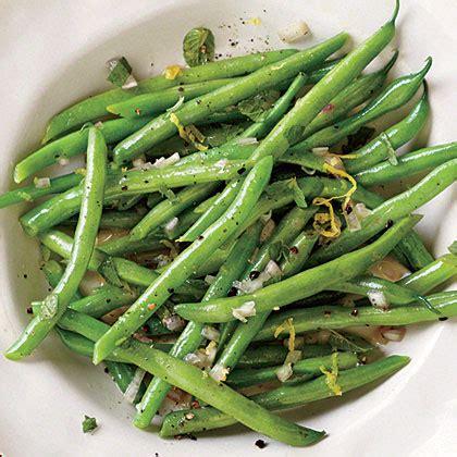 steamed green beans with lemon mint dressing recipe myrecipes
