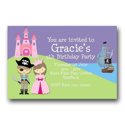 free princess and pirate invitation template create pirate invitations with your kid and