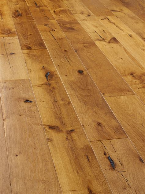 Oak, rustic, distressed and smoke oiled engineered wooden