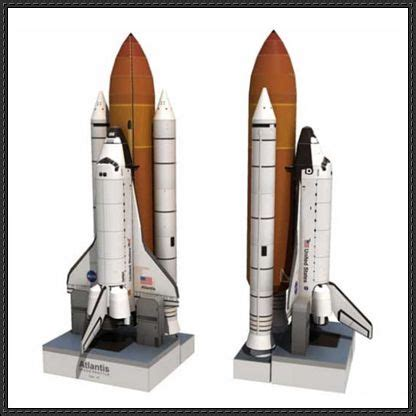 space shuttle atlantis ver 2 free paper model